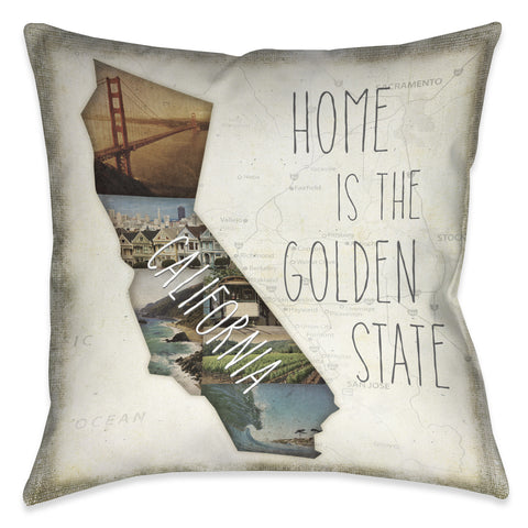 Home is California Indoor Decorative Pillow