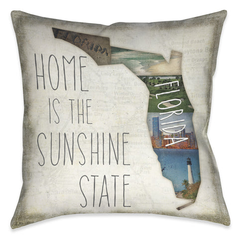 Home is Florida Indoor Decorative Pillow
