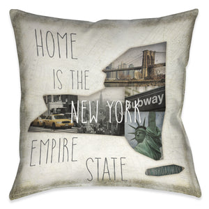 Home is New York Indoor Decorative Pillow