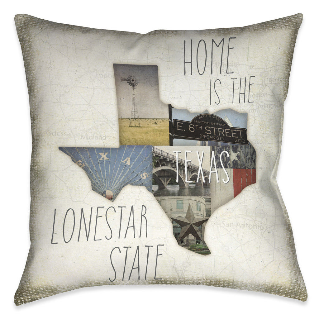 Home is Texas Indoor Decorative Pillow