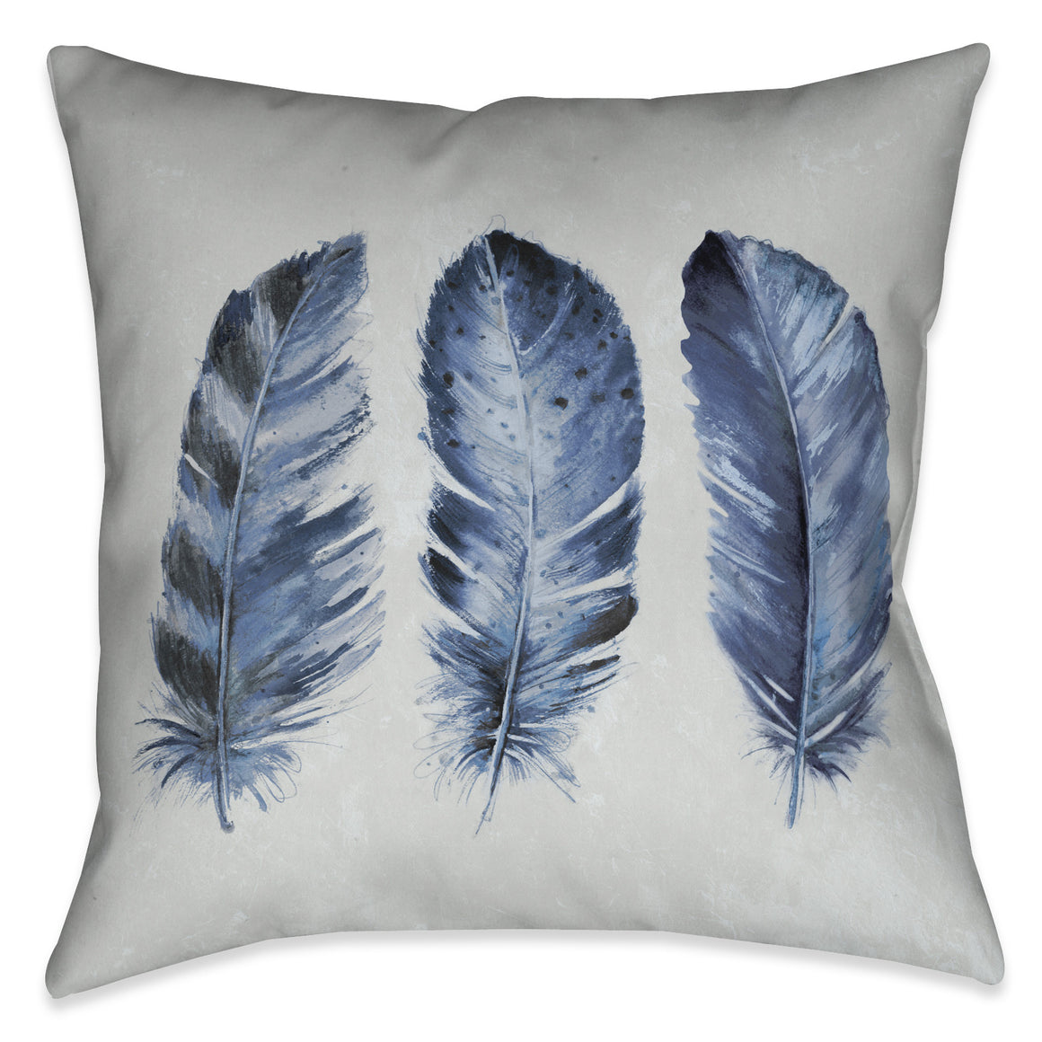 Indigo Feathers II Indoor Decorative Pillow