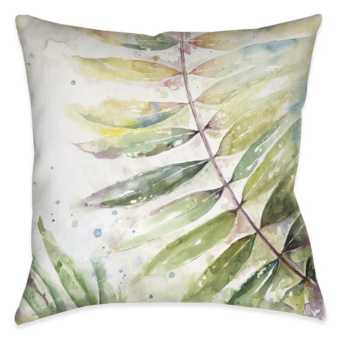 Watercolor Jungle II Outdoor Decorative Pillow