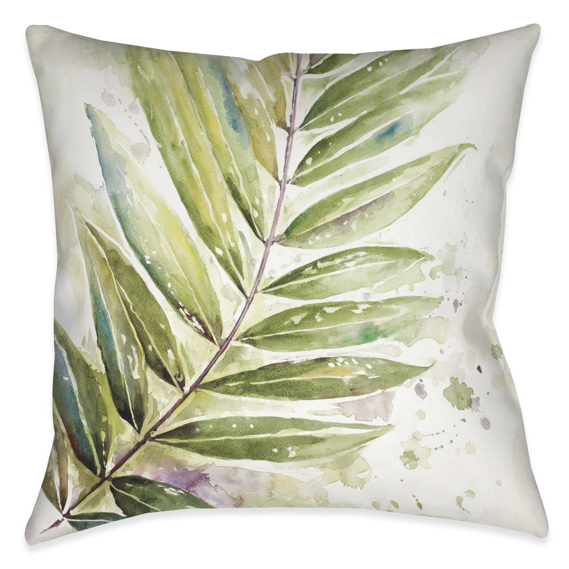 Watercolor Jungle I Outdoor Decorative Pillow