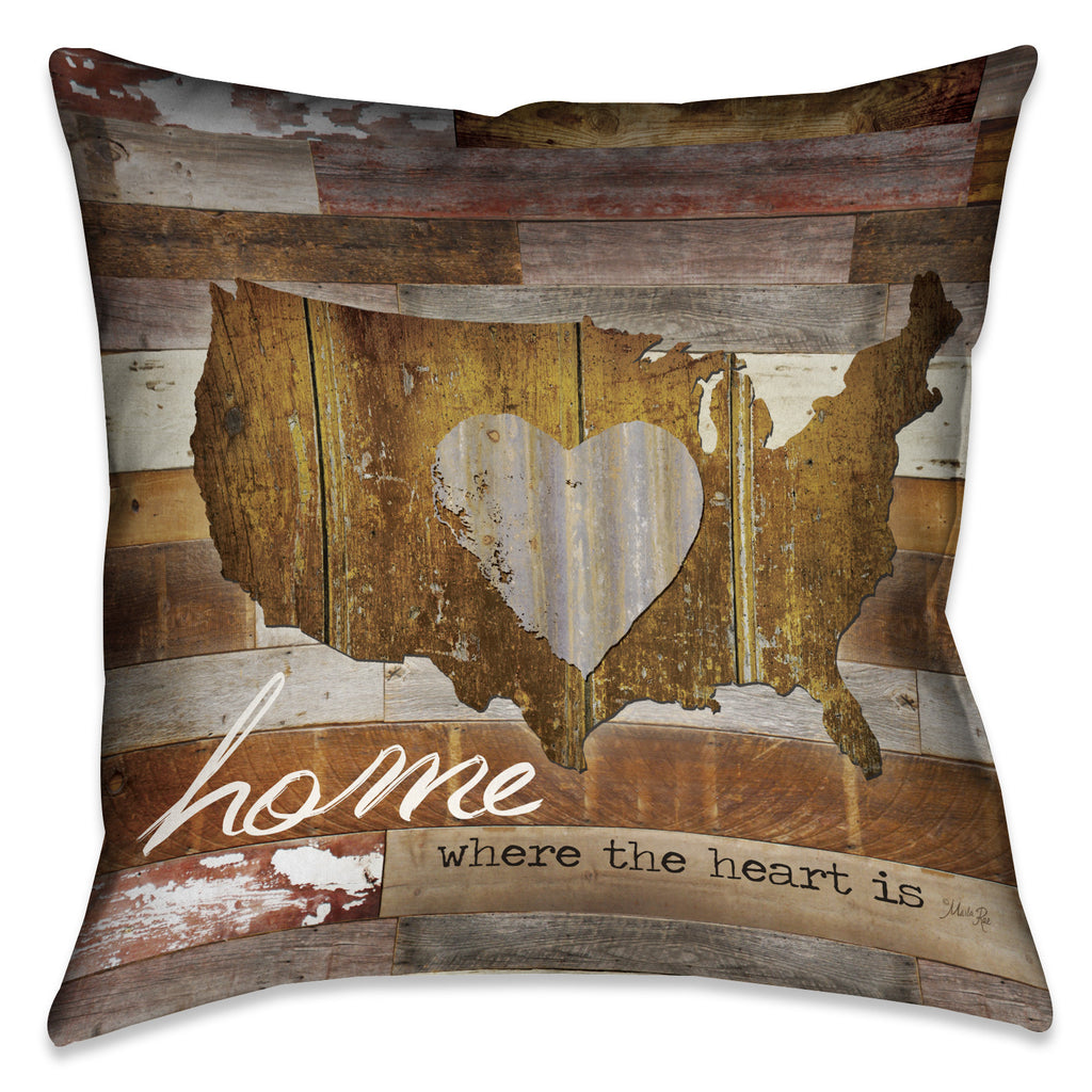 Land That I Love Decorative Pillow
