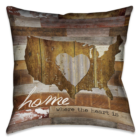 Land That I Love Outdoor Decorative Pillow