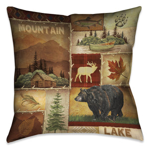Lodge Collage I Indoor Decorative Pillow