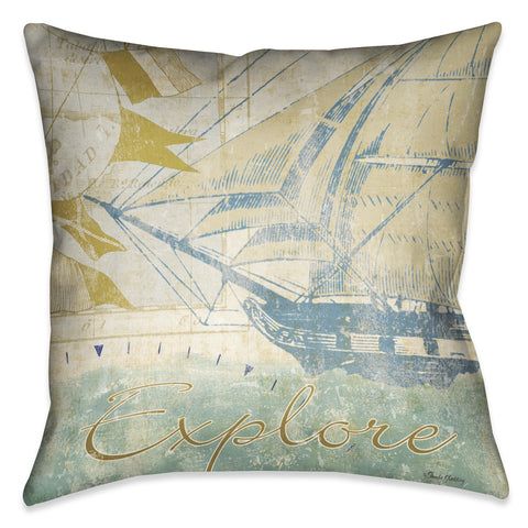 Mariner Sentiment I Indoor Decorative Pillow