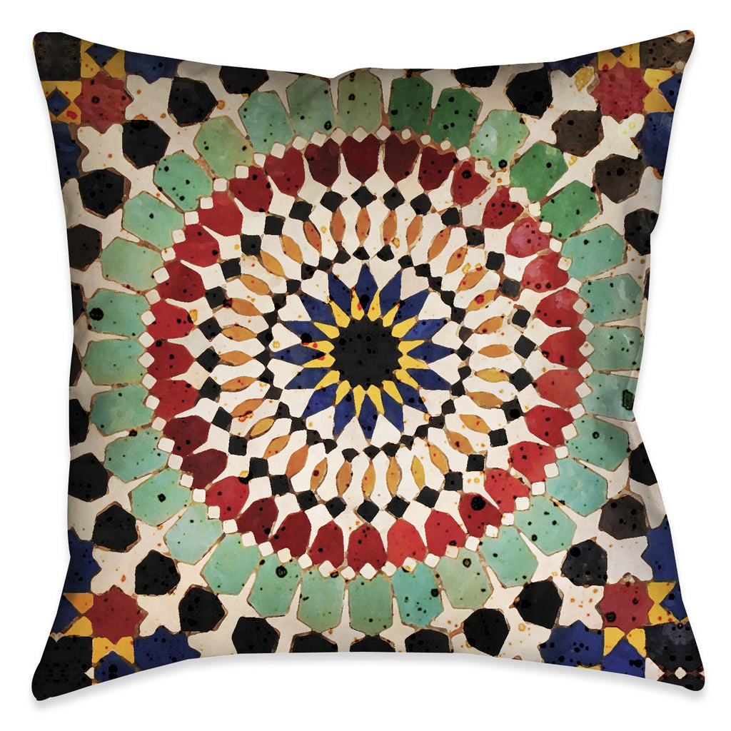 Mosaic Tile Outdoor Decorative Pillow