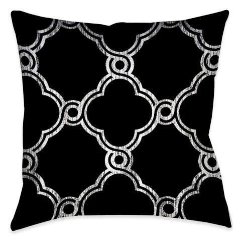Ornate Geometric Indoor Decorative Pillow