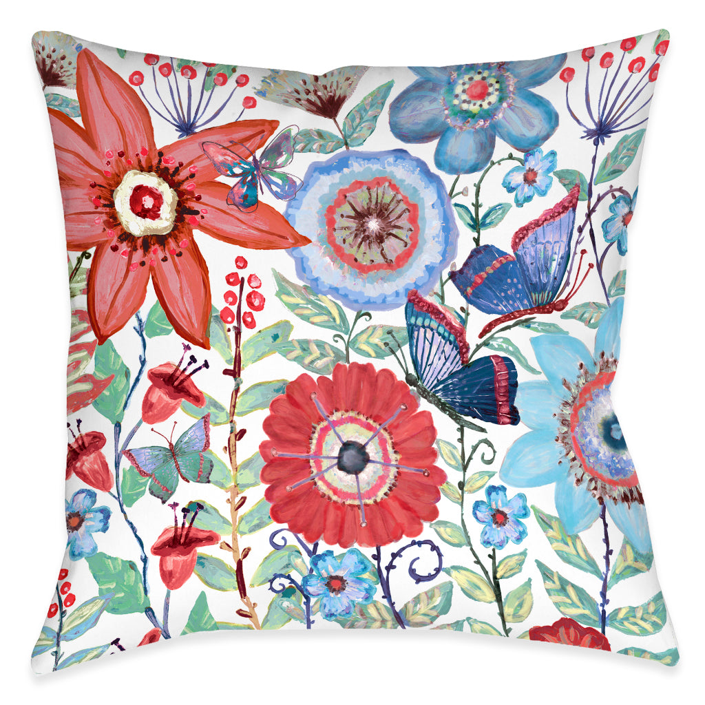 Secret Boho Garden Indoor Decorative Pillow
