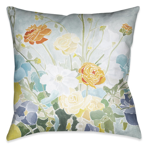 Flourishing Spring Florals Indoor Decorative Pillow