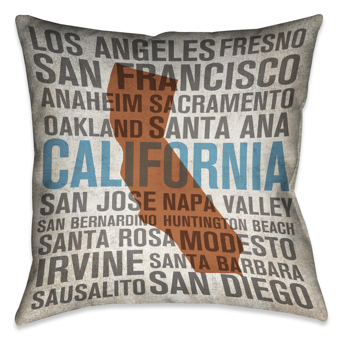 States - California Indoor Decorative Pillow