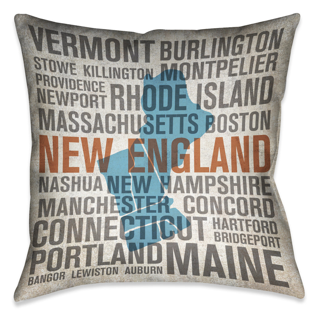 States - New England Indoor Decorative Pillow