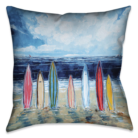 Surfboards Indoor Decorative Pillow