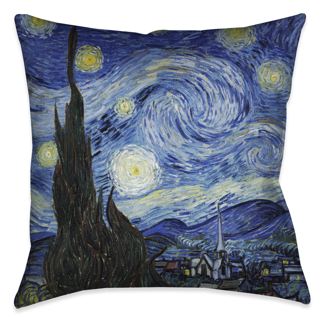 Vincent Van Gogh's Starry Night Indoor Decorative Pillow