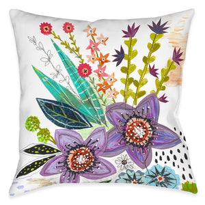 Violet Blooms Indoor Decorative Pillow