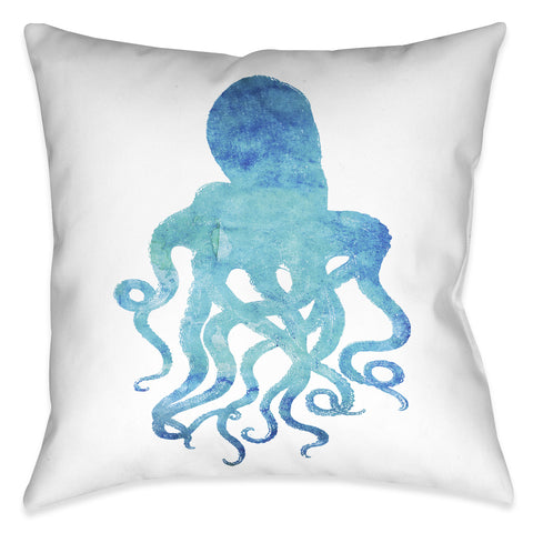 Watercolor Octopus Indoor Decorative Pillow