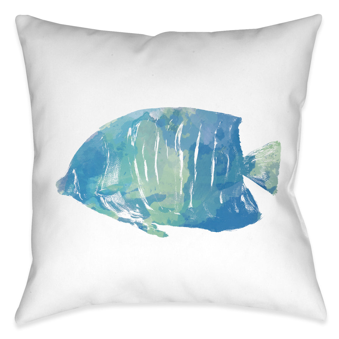 Watercolor Fish II Outdoor Decorative Pillow