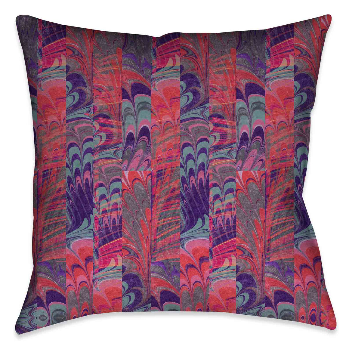 Pink and Purple Marble Decorative Pillow