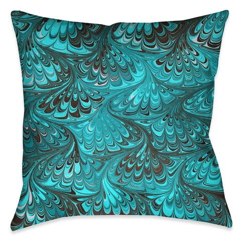 Aqua Marble Decorative Pillow