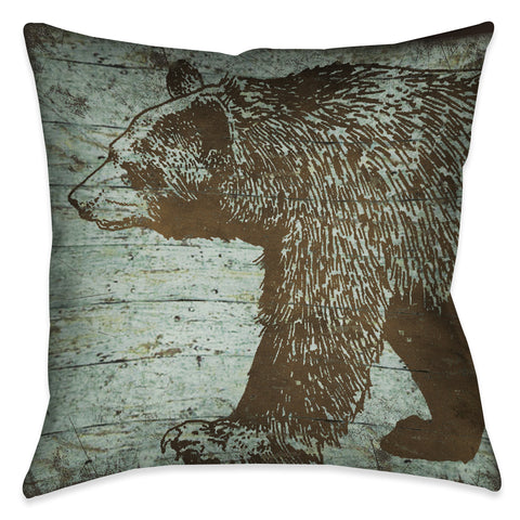 Lodge Bear Indoor Decorative Pillow