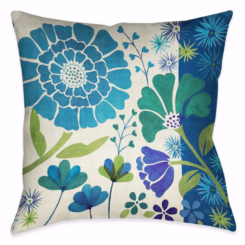 Blue Garden II Indoor Decorative Pillow