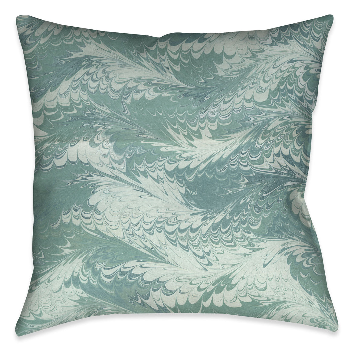 Pastel Mint Marble Decorative Pillow