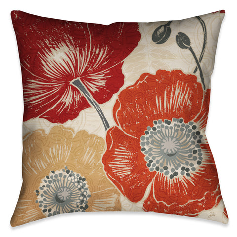 A Poppy's Touch II Indoor Decorative Pillow