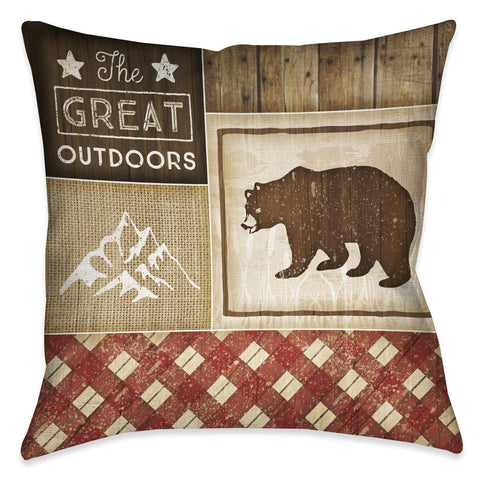 Country Cabin III Outdoor Decorative Pillow
