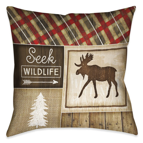 Country Cabin II Outdoor Decorative Pillow