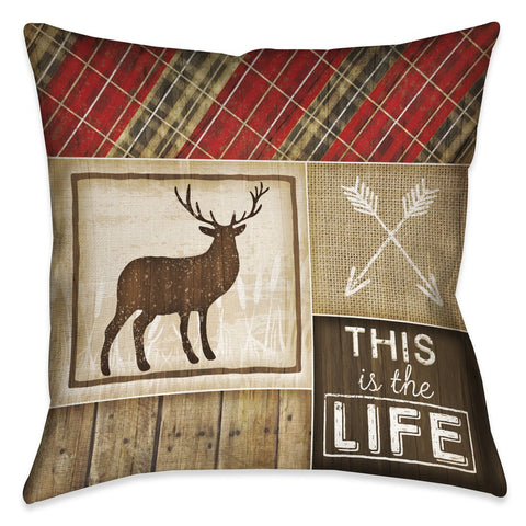Country Cabin IV Outdoor Decorative Pillow
