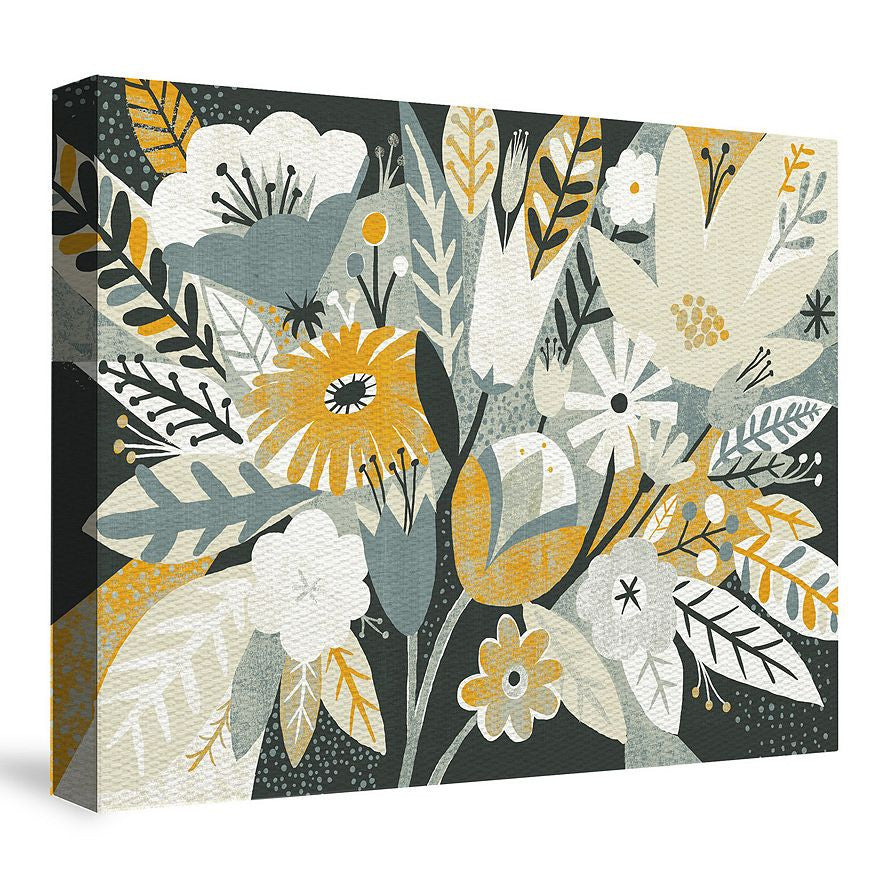 Vintage Bouquet Yellow Canvas Wall Art