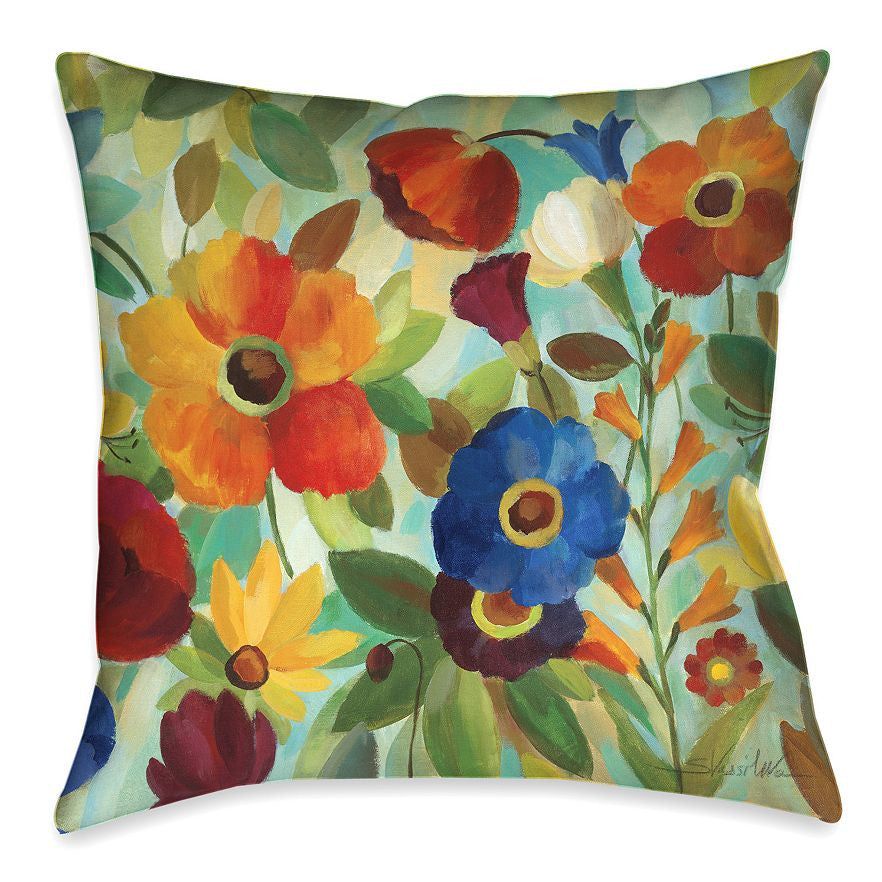 Summer Floral Indoor Decorative Pillow