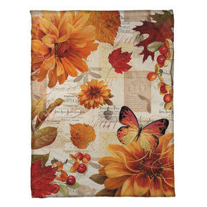 Fall In Love Fleece Throw