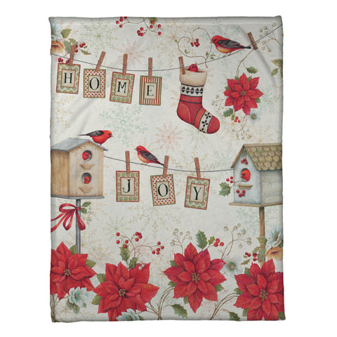 Holiday Wings Fleece Throw