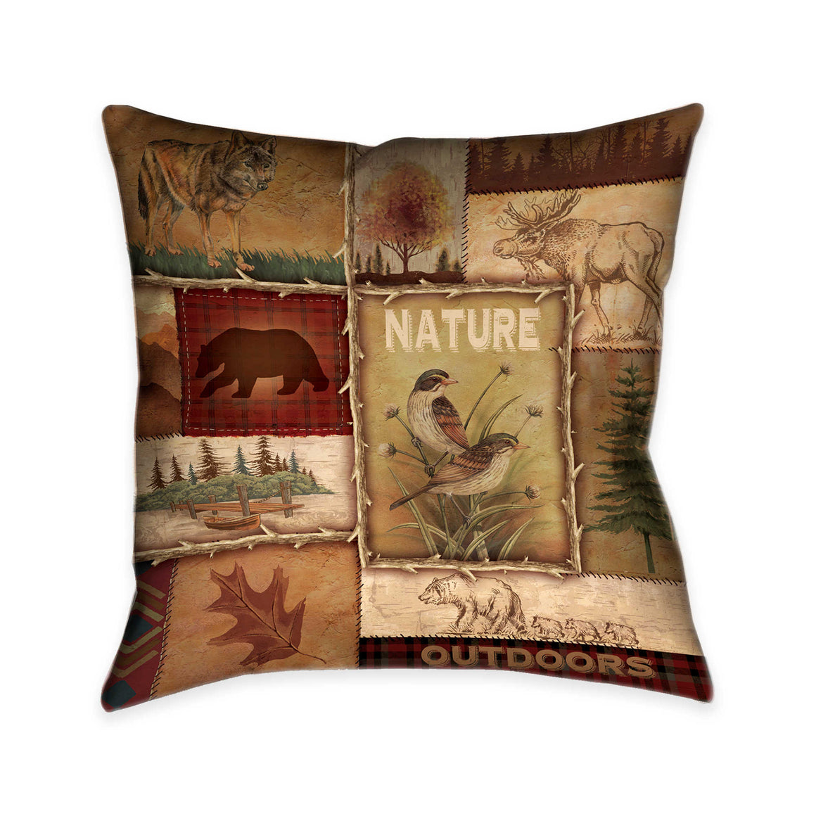 Lodge Collage II Indoor Decorative Pillow