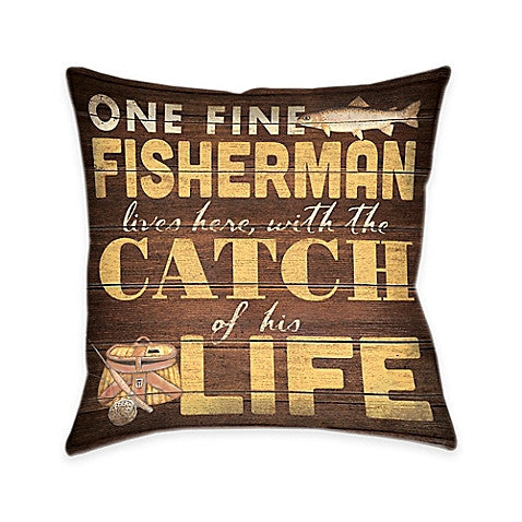 Fine Fisherman Indoor Decorative Pillow