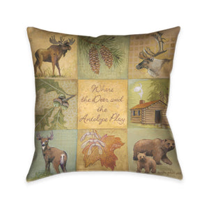 Deer and Antelope Indoor Decorative Pillow