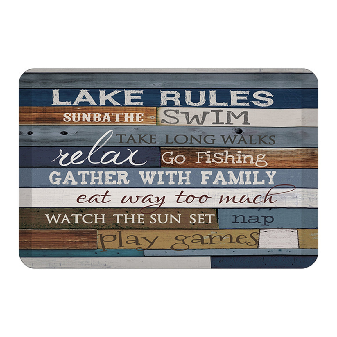 Lake Rules Floor Mat