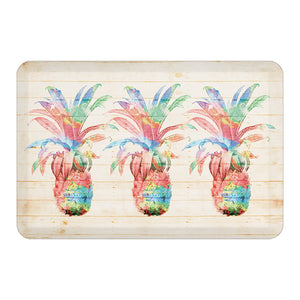 Colorful Pineapples Floor Mat