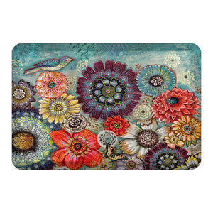 Blue Bird Boho Floor Mat