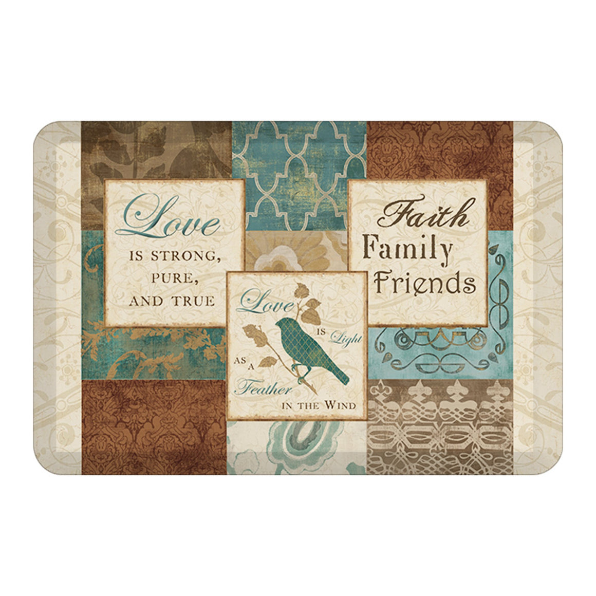 Faith, Family & Friends Floor Mat
