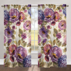 Precious Purples and Blues Room Darkening Window Panel