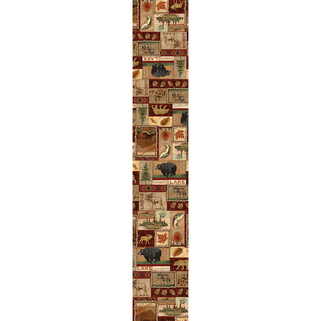 Lodge Collage Table Runner