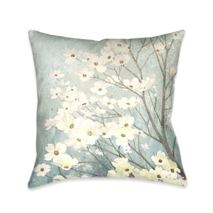 Dogwood Blossoms I Indoor Decorative Pillow