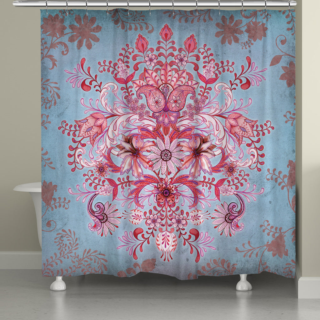 Pink Kaleidoscope Shower Curtain – Laural Home