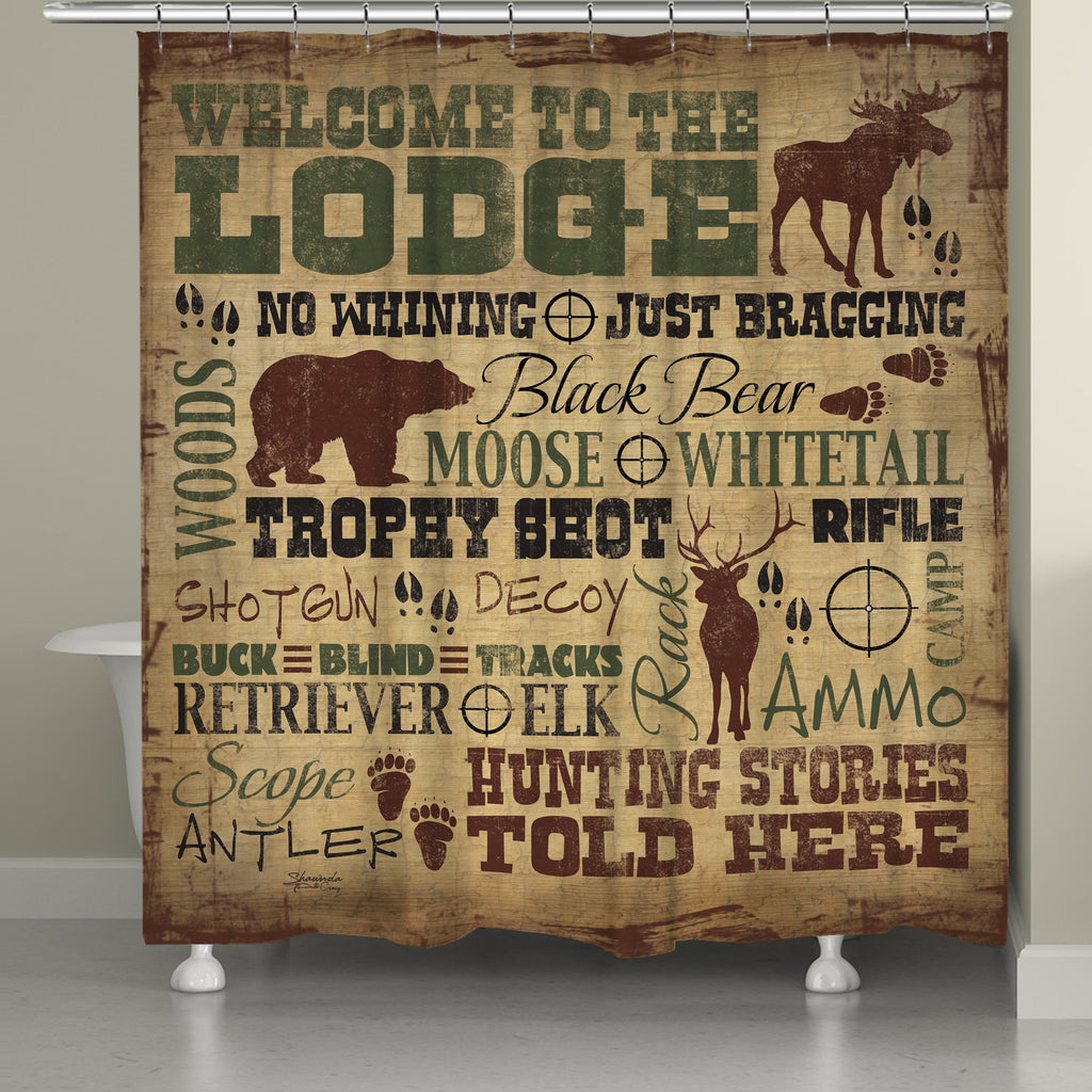 Welcome to the Lodge Shower Curtain – Laural Home