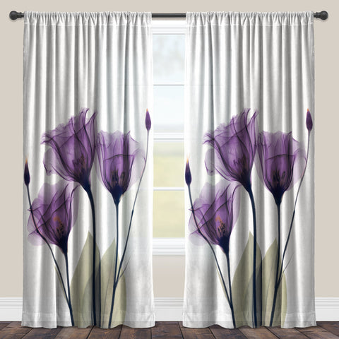 Gentian Hope Sheer Window Panel