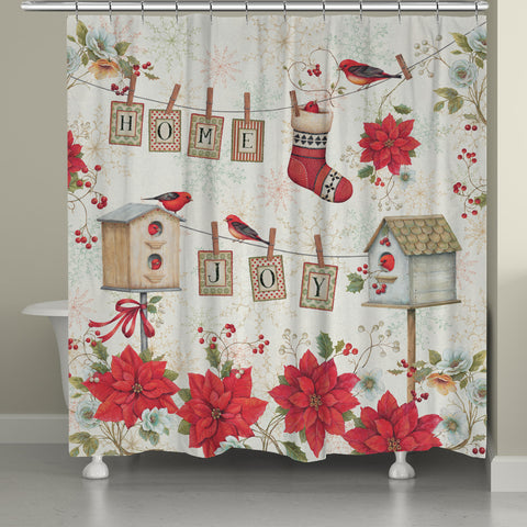 Holiday Wings Shower Curtain