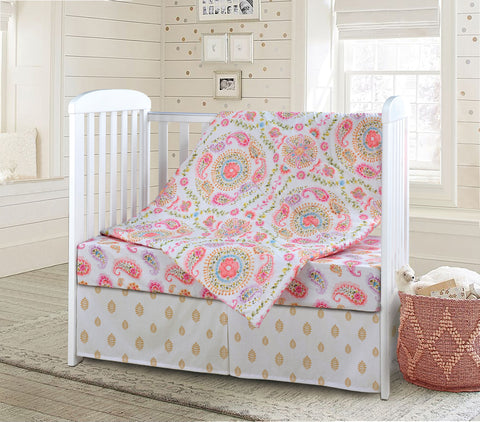 Rainbow Seeds Baby Bedding Set